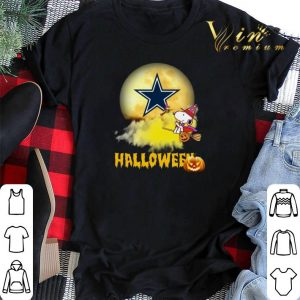 Halloween Snoopy flying on the broom Dallas Cowboys shirt