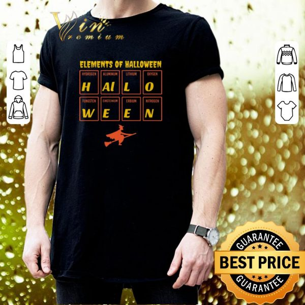 Hot Witch Elements of Halloween Periodic Table Molecule shirt