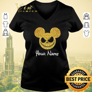 Nice Mickey Face Your Name Jack Skellington shirt