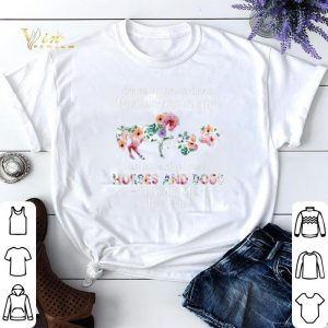 Once upon a time there was girl who loved horses and dogs flower shirt sweater
