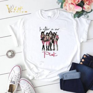 Pink Breast cancer awareness Kiss In october we wear shirt