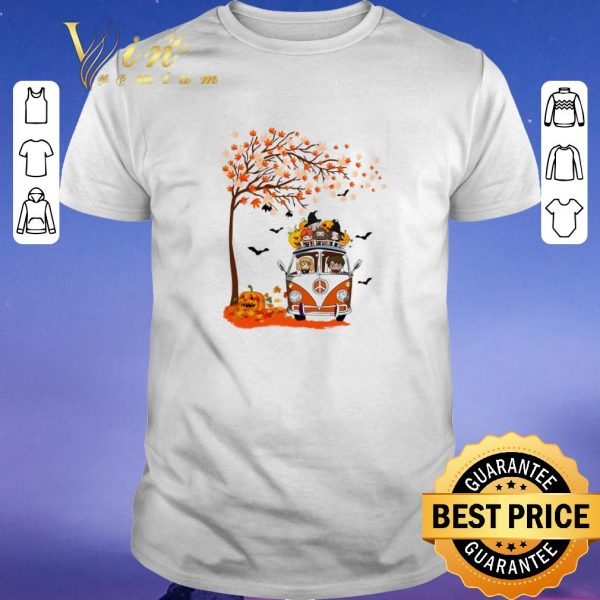 Premium Harry Potter characters hippie car autumn leaf tree shirt sweater