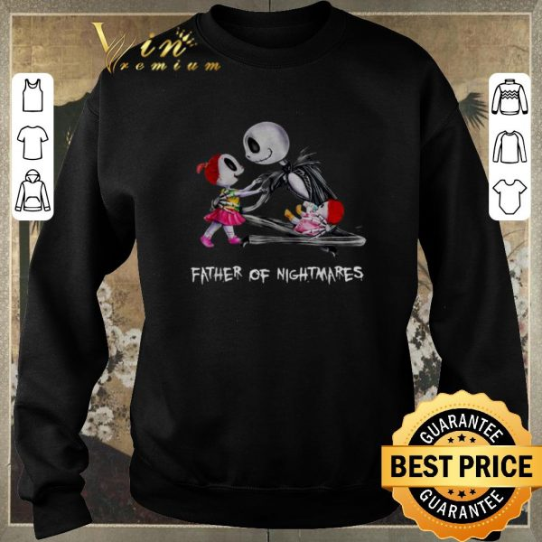 Premium Jack Skellington two girl father of nightmares shirt sweater