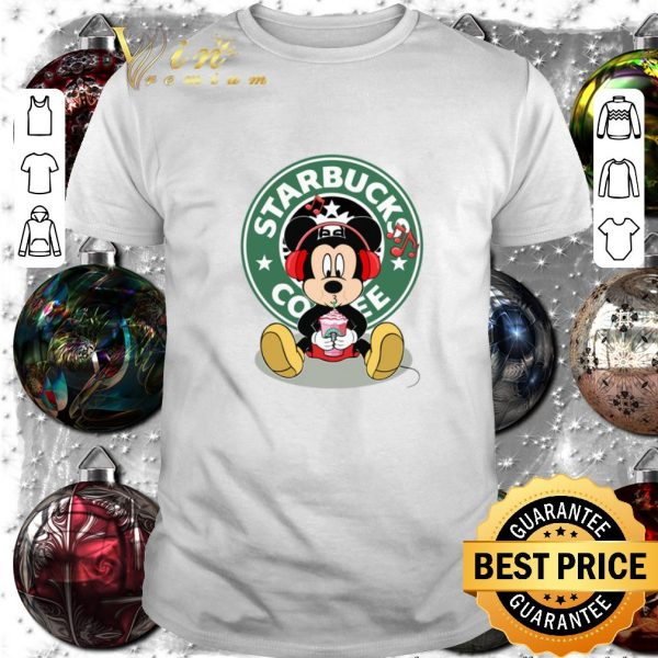 Premium Mickey drink Starbucks coffee shirt