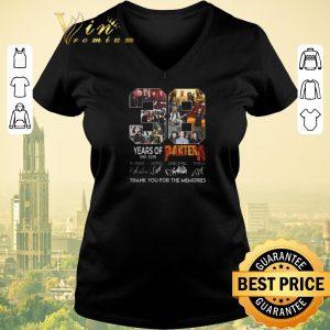 Premium Thank you for the memories 38 years of Pantera 1981-2019 signatures shirt