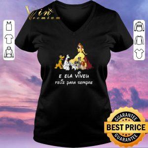 Pretty Belle and dogs E Ela Viveu Feliz Para Sempre shirt sweater