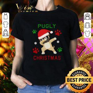 Pretty Dabbing Pug Pugly paws ugly Christmas shirt