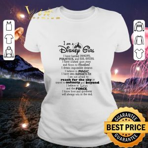 Pretty I am a Disney girl i have battled dragons pirates and evil queen shirt