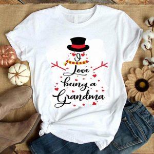 Snowman I love being a grandma shirt