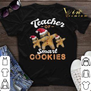 Teacher of Smart Cookies Dabbing Gingerbread Christmas shirt sweater