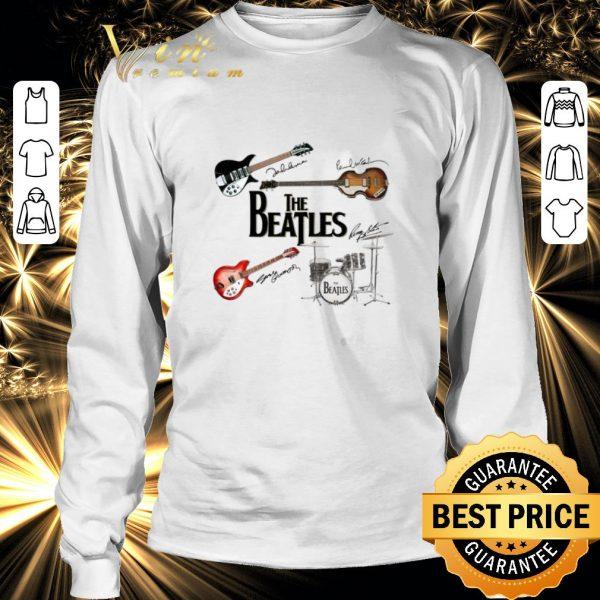 Top The Beatles Guitars Instrument Signatures shirt