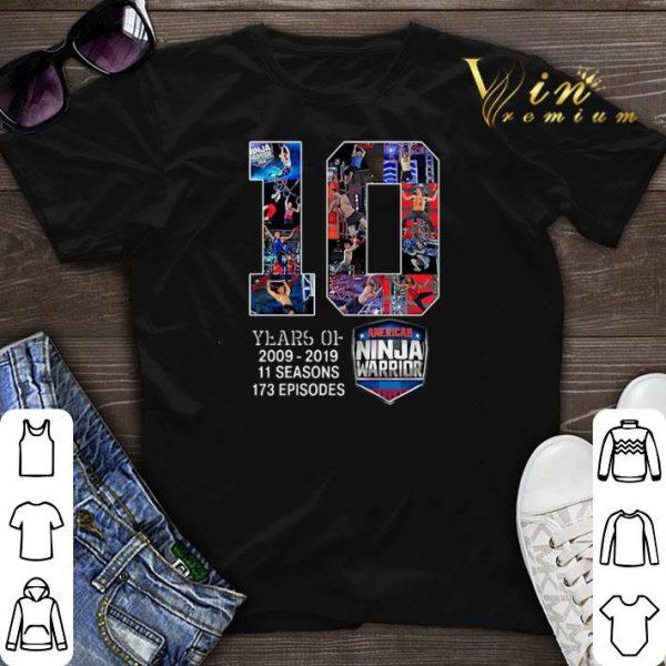 10 years of American Ninja Warrior 2009 2019 shirt sweater