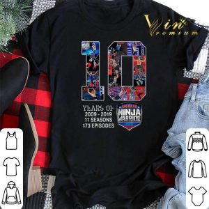 10 years of American Ninja Warrior 2009 2019 shirt sweater