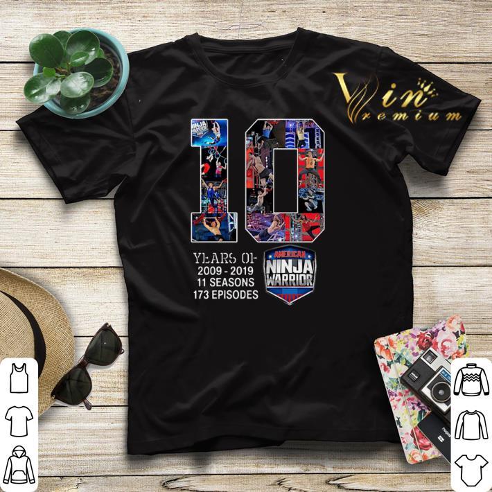 10 years of American Ninja Warrior 2009 2019 shirt sweater 4 - 10 years of American Ninja Warrior 2009 2019 shirt sweater