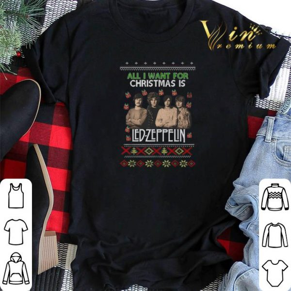 All I want for Christmas is Led Zeppelin ugly shirt