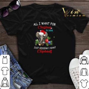 All i want for Christmas is you just kidding i want elephants shirt sweater