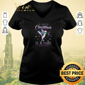 Awesome All i want for Christmas is a cure Alzheimer Awareness shirt sweater