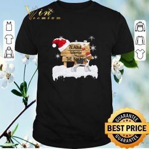 Awesome Christmas Beagle Through The Snow shirt