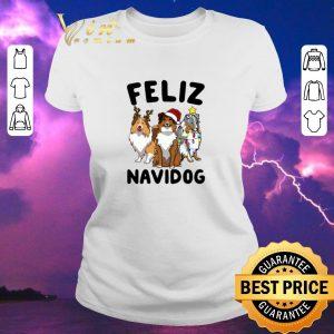 Awesome Christmas Feliz Navidog Shetland Sheepdogs shirt