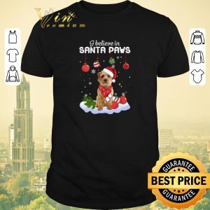 Awesome Christmas Norfolk Terrier i believe in Santa paws shirt