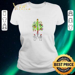 Awesome Christmas Tree Skeleton Santa Bones shirt