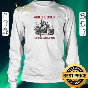 Awesome Girl bike And she lived happily ever after shirt sweater 2