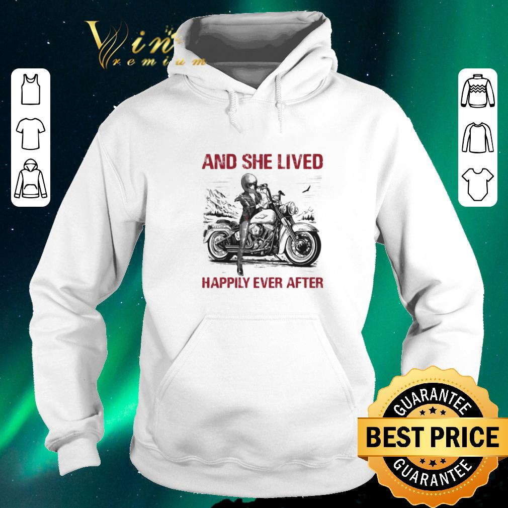Awesome Girl bike And she lived happily ever after shirt sweater 4 - Awesome Girl bike And she lived happily ever after shirt sweater