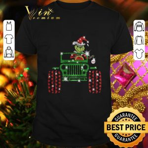 Awesome Grinch driving jeep car Christmas shirt