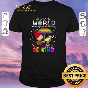 Awesome LGBT In a world where you can be anything Be Kind Snoopy Christmas shirt sweater