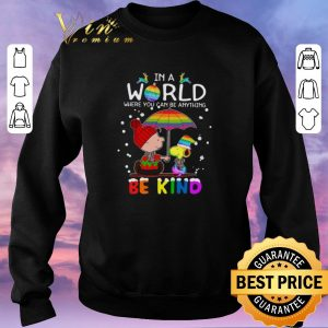 Awesome LGBT In a world where you can be anything Be Kind Snoopy Christmas shirt sweater 2