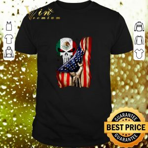 Awesome Skull 4th Of July independence day Mexico United States shirt