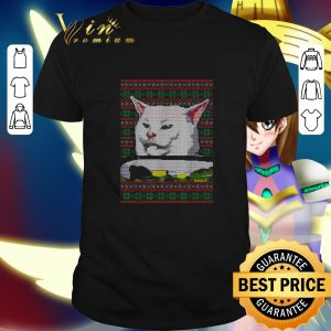 Awesome White cat ugly Christmas shirt