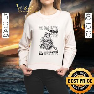 Best Skull veteran as i walk through the valley of the shadow of death i fear no evil shirt