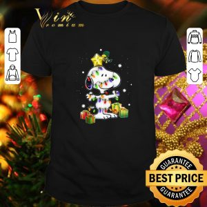 Best Woodstock Snoopy With Christmas Lights shirt