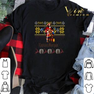 Captain Morgan ugly Christmas shirt sweater 1