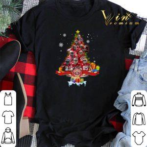 Christmas tree San Francisco 49ers player signatures shirt