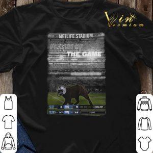Dallas Cowboys Black cat Metlife stadium player of the game shirt 2