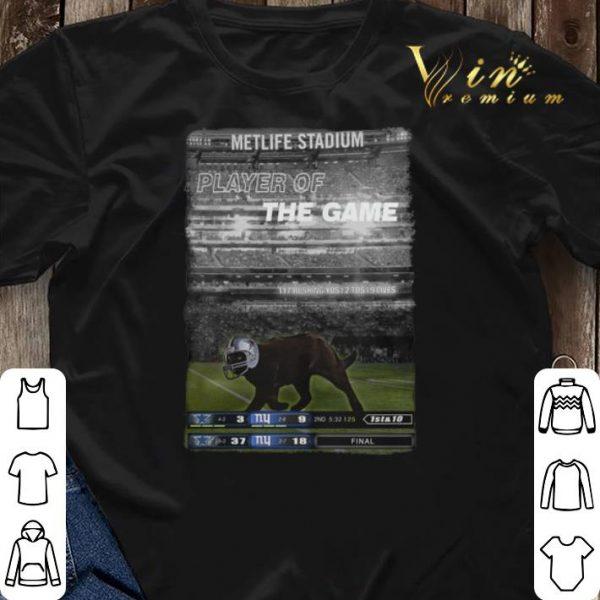 Dallas Cowboys Black cat Metlife stadium player of the game shirt