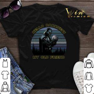 Darth Vader hold Death Star hello darkness my old friend shirt sweater