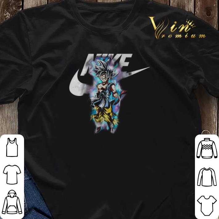 Dragon ball Son Goku Ultra Instinct Nike just do it shirt