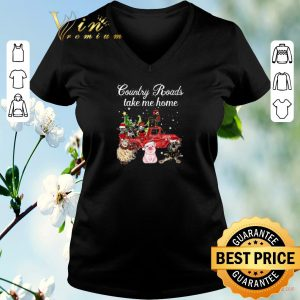 Farm Country Roads take me home cows sheep chicken pig donkey shirt sweater 1