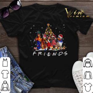 Friends Mickey Mouse characters Christmas tree Disney shirt sweater