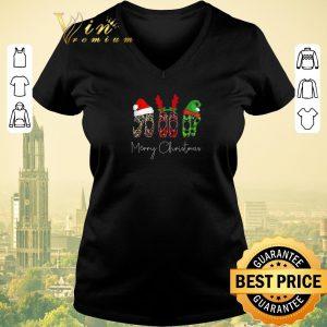 Funny Merry Christmas Leopard High heels shirt