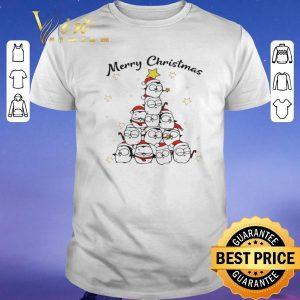 Funny Merry Christmas Tree Penguin shirt
