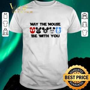 Funny Star Wars characters version Mickey may the mouse be with you shirt sweater