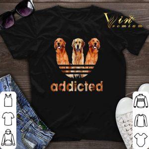 Golden Retriever addicted adidas shirt sweater