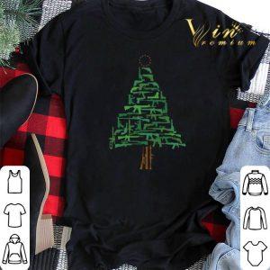 Green Gun Christmas Tree shirt