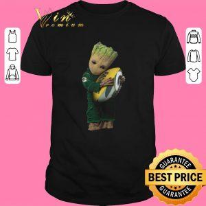 Hot Green Bay Packers Baby Groot hug rugby ball shirt