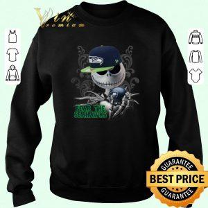 Hot Jack Skellington fear the Seattle Seahawks shirt sweater 2