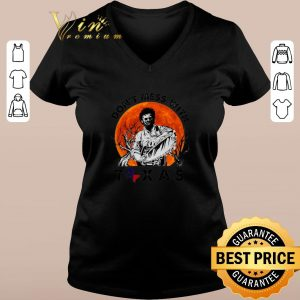 Hot Leatherface Don't mess with Texas sunset shirt sweater 2019